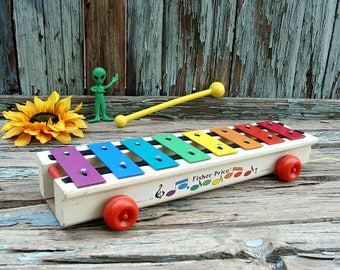 1978 ~ FISHER-PRICE ~ Pull-A-Tune ~ Xylophone ~ Classic Toy