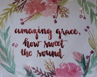 Amazing Grace Watercolor Painting