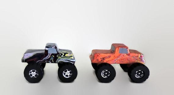Monster Toys For Boys : Hydro dipped toy monster trucks wooden car toys for