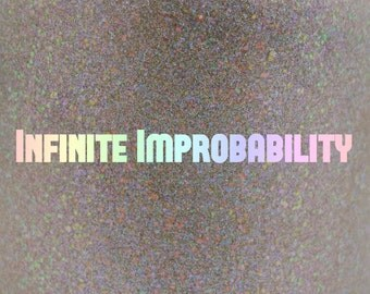 "Infinite Improbability holographic glow-in-the-dark nail polish 15 mL (.5 oz) from the ""Don't Panic"" Collection"
