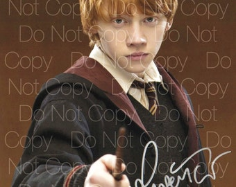 Harry Potter signed 1 Rupert Grint as Ron Weasley 8X10 photo picture poster autograph RP