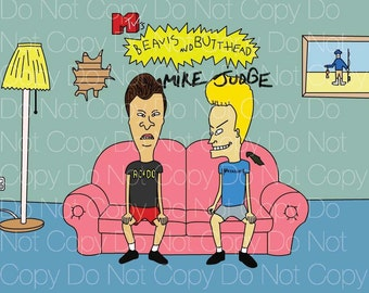 Beavis and Butthead signed 2 Mike Judge 8X10 photo picture poster autograph RP