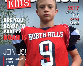 Sports Illustrated Kids Magazine Cover Invitation - Printable