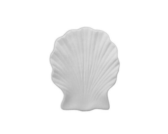 Shell dish kitchen coaster soap dish ceramic bisque for Bisque ceramic craft stores