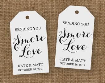 Smore Wedding Favor - Smore Wedding Favors - Smore Love Tags - Wedding Favor Tags - Smore Favor - Smore Tags - Wedding Favor Tags - LARGE