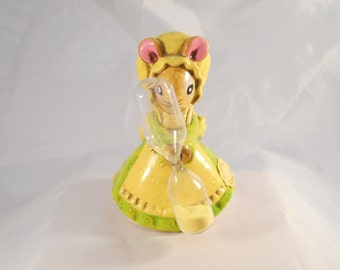 Vintage Egg Timer, Little Lady Mouse , Composite, Josef Originals, a Lorrie Design, Made in Japan