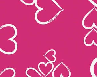Baby Bedding Crib Bedding - Fuchsia Heart - Baby Blanket, Crib Sheet, Crib Skirt, Changing Pad Cover, Boppy Cover