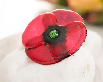 Handmade Poppy brooch. NEW!!