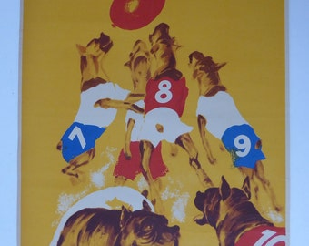 Original Vintage Busch Circus Dog Poster from 1970