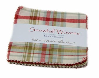 Snowfall Wovens Charm Pack by Minick & Simpson for Moda