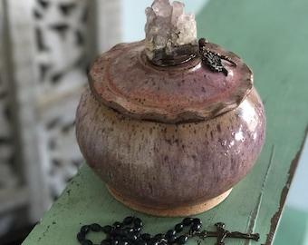 Sweet Little Prayer Jar in Earthy Pink