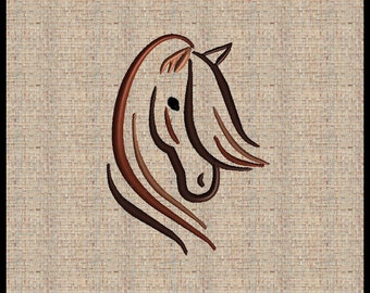 Horse Embroidery Design Horse Head Embroidery Design Horse Ouline Horse Head Silhouette 5