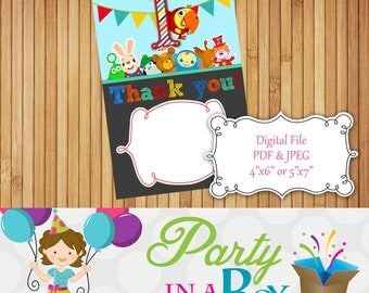 Baby First TV Thank You Card Instant Download Digital File