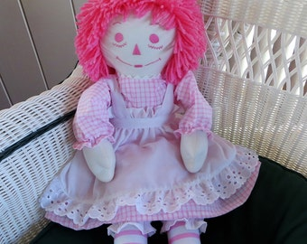 All Pink 25 inch Personalized Raggedy Ann Doll Handmade in the USA