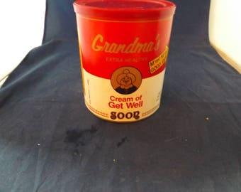 Campbells Soup Grandmas Cream of Get Well Can