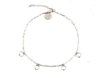 Hook Up Choker - minimal choker, silver faux leather choker, silver collar necklace, minimal jewelry choker necklace