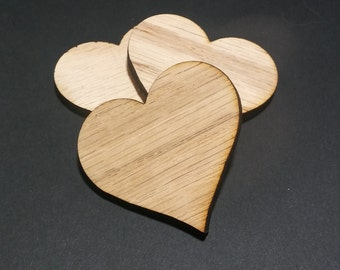35 Laser Cut Wood Heart Shapes, wedding,anniversary,birthday,crafts