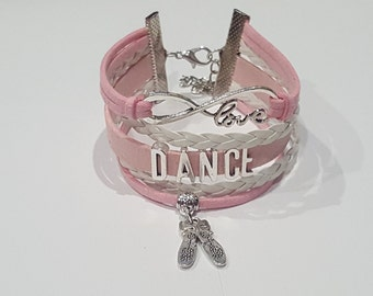 Pink Infinity Love Dance Bracelet Dance shoes Charm