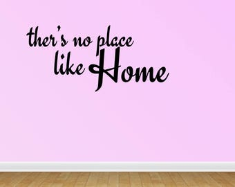 Wall Decal There's No Place Like Home Room Decor Wizard Of Oz Vinyl Lettering Home Decor Vinyl Wall  Stickers Decals (PC321)