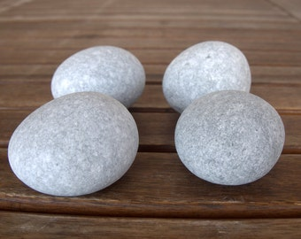 4 Medium Rounded Stones,2-3 inches,Beach Stones,Sea Stone,Rounded Stones,Zen Stones,Mandala Stones,Stones For Painting,Crafting Stones,RTS