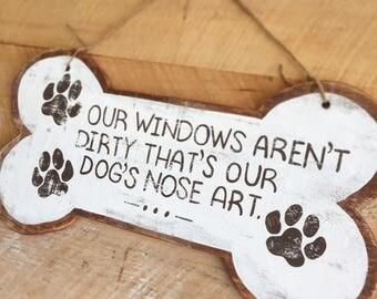 Dog Nose Art Reclaimed Wood Sign