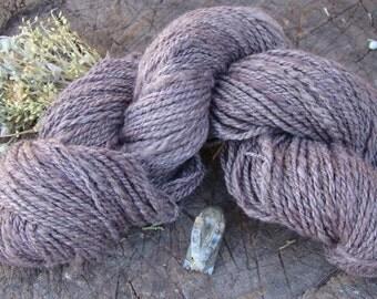 Hand Spun and Dyed Merino Yarn - Purple