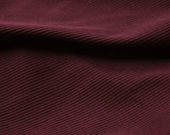 Ruby 2x1 Rib Knit 60'' Light-Weight Cotton Knit Fabric by the Yard