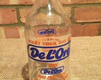 Vintage Unigate milk bottle De L'Ora