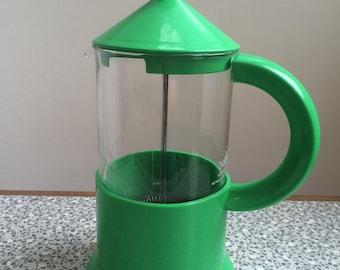 Retro Bodum cafetiere  bright green