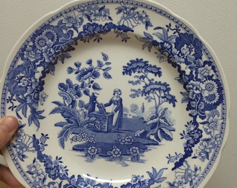 Spode blue plate girl at the well