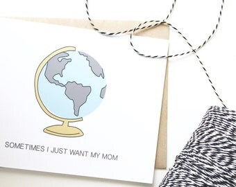 I miss my Mom card. Mothers Day Card. Long distance mom card. Happy Mothers Day.