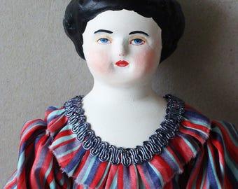 "Handmade antique doll replica, art doll ""Clara"""