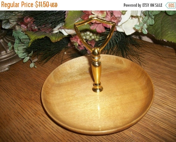 Myrtlewood tray nut candy canape serving dish by for Canape serving dishes
