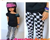 Sale 20% Off BJD MSD 1/4 Doll Clothing - Checked Boot Cut Pants