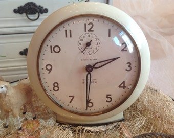 Lovely large vintage shabby cottage farmhouse Big Ben clock
