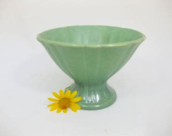 Vintage Pottery Planter, Pedestal Vase, Pottery Vase, Matte Finish