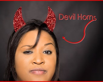 Devil Horns Red Devil Horns Headband SINGLE Set of Devil Horns