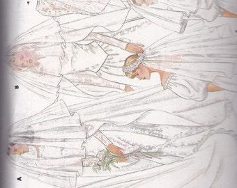 Butterick 4649 Vintage Pattern Bridal Veils In 6 Variations  - Floor Length to Shoulder Length  UNCUT