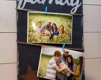 Family Photo Board, Family Sign, Family Board, Photo Board