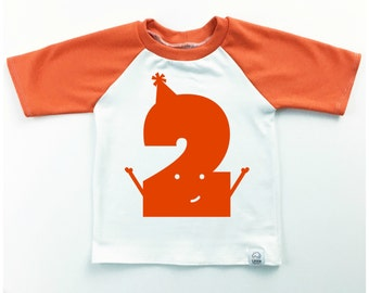 Classic Collection Orange Number Raglan | CHOOSE YOUR NUMBER 1-8