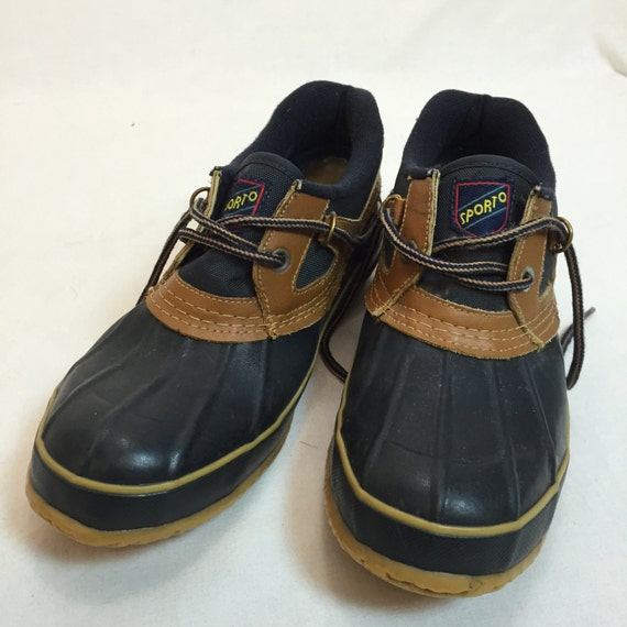 vintage sporto duck boots s size 8 two eyelet