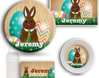 Easter Dinnerware SET, Personalized Name Dishes, Melamine Plate, Kids Bowl, Travel Mug, Kids Placemat, Easter Dishes, Baby Dish, Kids Plate