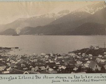 Juneau and Douglas Island Treadwell gold mine antique photo Alaska