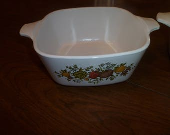 Two Corning Ware Casserole Dishes