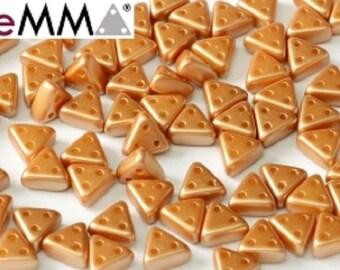 eMMA® Bead AMBER PASTEL, 3x6 mm, 50 beads
