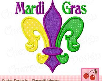 Mardi Gras Embroidery design,Fleur De Lis,Mardi Gras Fleur De Lis applique MD0003-approximate 4x4 5x5 6x6 inch