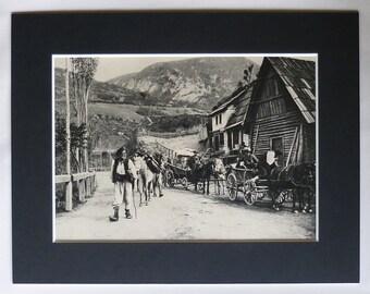 1920s Antique Jajce Print, Available Framed, Bosnian Art, Bosnia and Herzegovina Gift, Old Balkan Decor East Europe Picture Eastern European