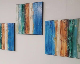 Abstract Painting Wall Decor Original Acrylic Painting Textured Art Palette Knife Painting Wall Art by jillsfineart