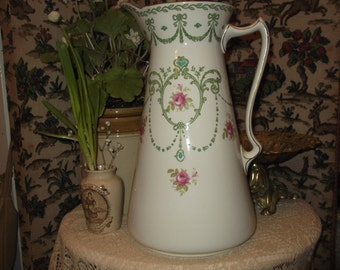 Rare Victorian Art Nouveau Pitcher, Art Nouveau Jug, Victorian  Jug, F W & Co , f.Winkle and co Jug