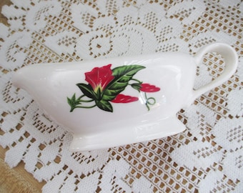 1949 Hollywood Craftsman Scarlet Morning Glory gravy boat - Mint Condition - estate find!